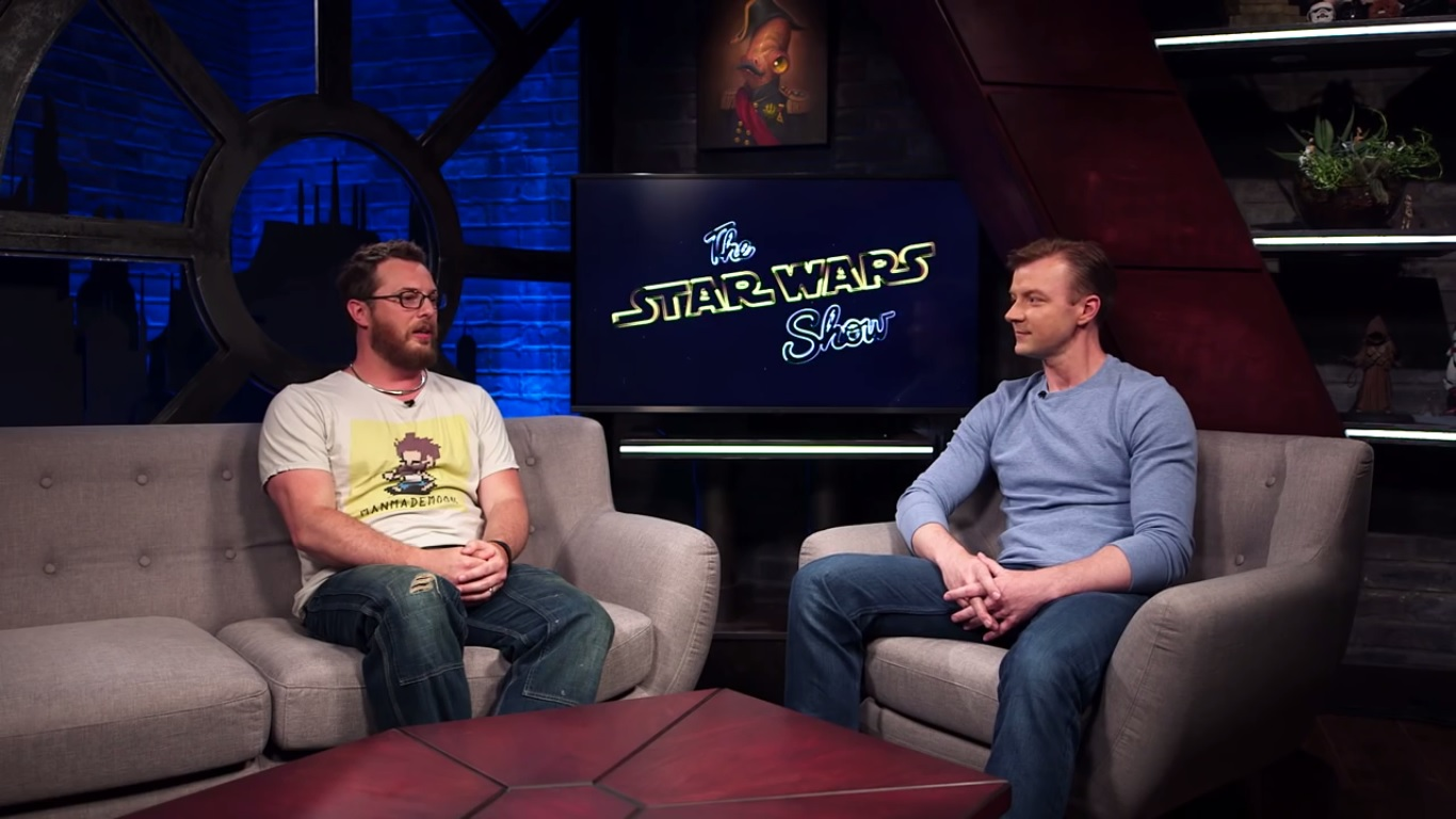 Сериал «The Star Wars Show» (2016 – ...): Дункан Джонс, Питер Таунли 1 сезон, 1 эпизод — «Duncan Jones, Best of Star Wars Day and Celebration News» 1366x768